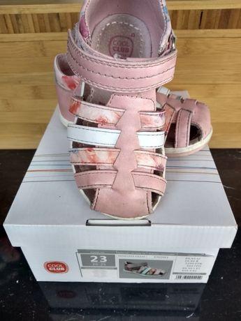 Sandałki skórzane smyk cool club 23 dziewczęce śliczne