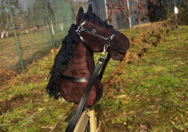 HOBBY HORSE ze SPRZĘTEM zestaw gniady ogłowie | KHT SPORT TEAM