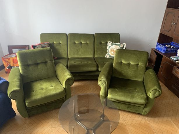 sofas verdes + tampao