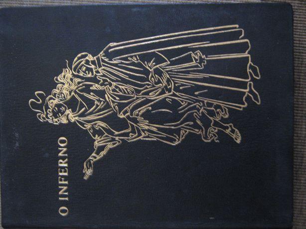Conjunto de livros antigos dante o inferno 1961