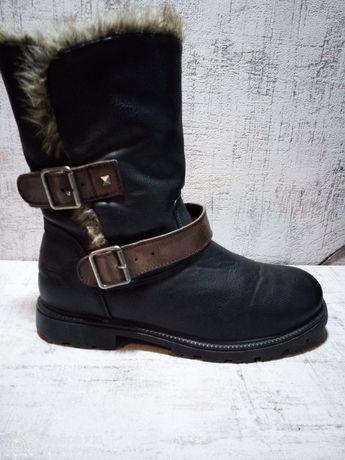 Ботинки женские Atlantic, Кожа, мех, 38 р-р.