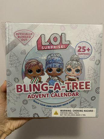 Набор для творчества адвент календарь  LOL лол bling a tree елка