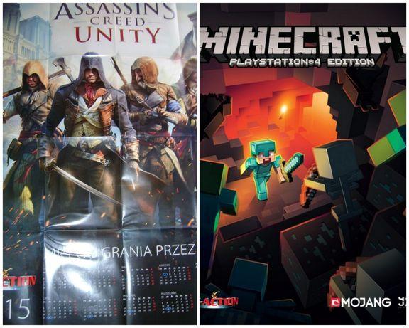 plakat assassin's creed UNITY 80X100 Minecraft