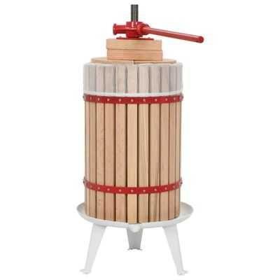 Prensa para fruta /vinho com saco de pano 24 L carvalho *Envio Grátis*
