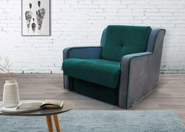 Łóżko 1os/ Fotel Rozkładany/Funkcja spania/INES/Kanapa/Sofa z pojemnik