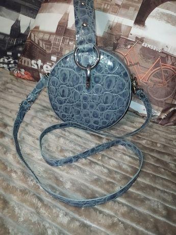 Женская кожаная сумка (Барабан)