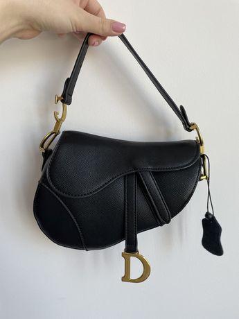 Сумка dior saddle (диор седло, діор сідло) чорна