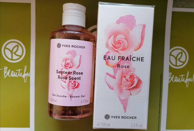 Набор Свежая Роза Туалетная вода + Парфюмированный гель Ив Роше