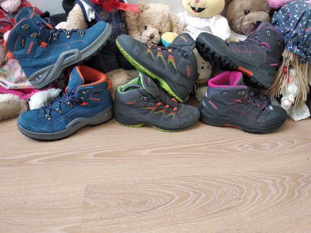 Ecco Кожаные термо ботинки непромокаемые Lowa мембрана gore-tex 34 р