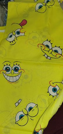 Zasłony Sponge Bob 140 x 160 podpinane