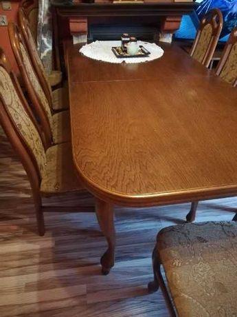stół+8 krzeseł stan bdb
