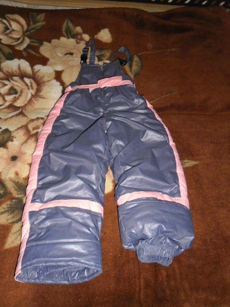 Штани зимние для девочки 3-5 лет.