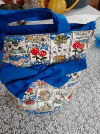 Летняя тканевая сумочка для девочки