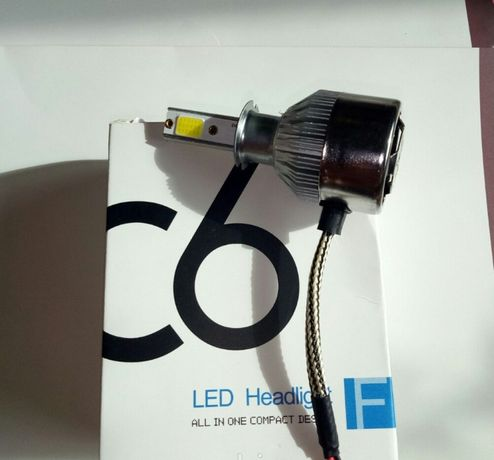 Комплект LED ламп C6 H4, Светодиодные лампы головного света, Автомобил