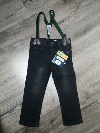 Nowe!! Spodnie z szelkami