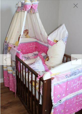 Kompletne łóżeczko dla małej księżniczki