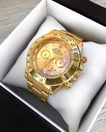 Мужские часы Rolex Daytona Золотые Чоловічі 5 Расцветок
