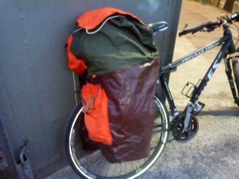 Вінтажний баул (вело рюкзак)