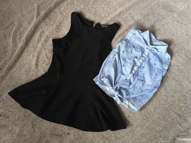 Сарафан рубашка майка на девочку, школьная форма