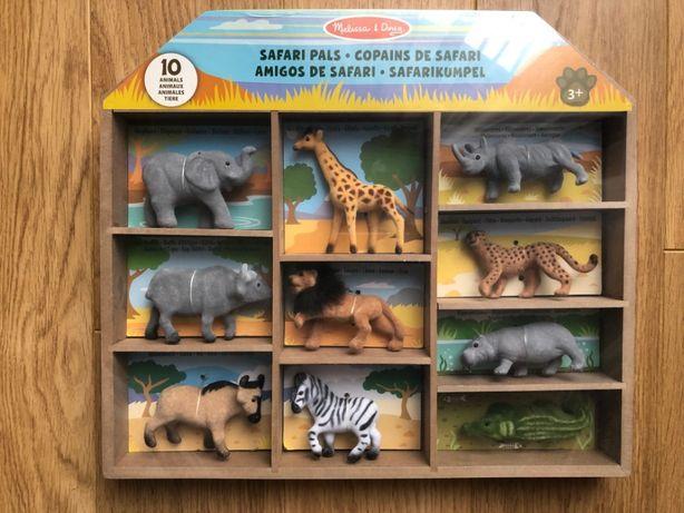 Melissa & Doug filcowe zwierząta Safari 10 szt. - NOWE - wysyłka 1zł