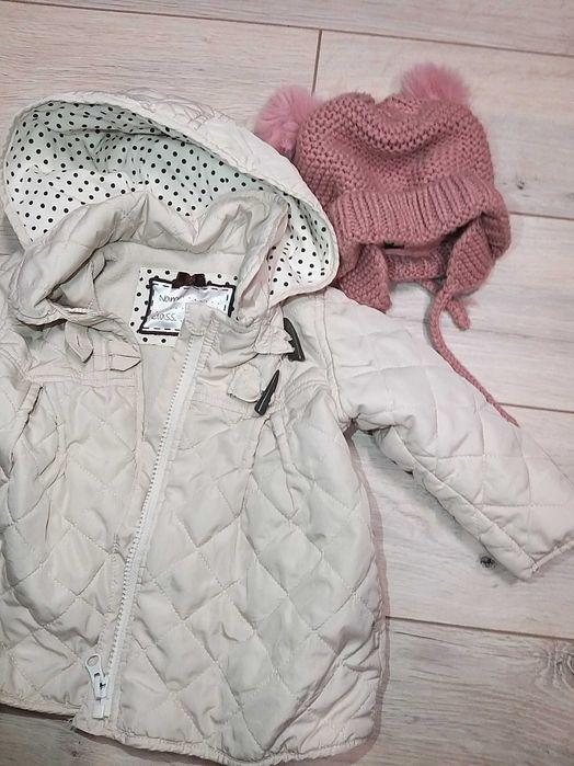 Kurtka pikowana Mothercare rozm. 74 cm, czapka Zara Jonkowo - image 1