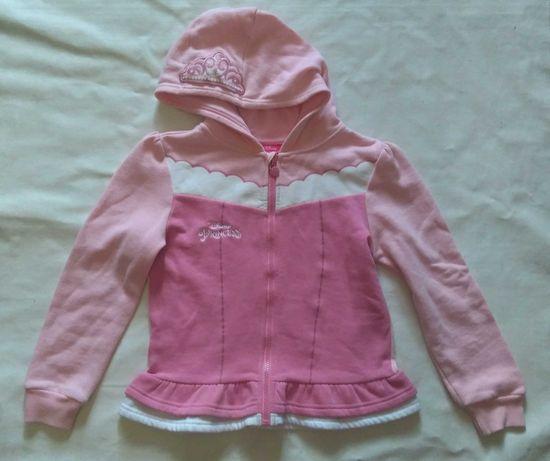 Disney Принцессы Фирменная розовая кофта капюшонка на девочку 6-8лет