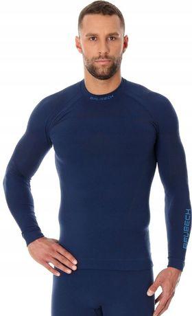 BRUBECK LS13040 Zimowa bluza Thermo blue M