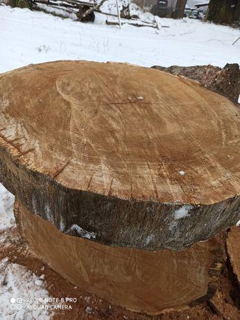 Plastry, krążki z drewna dębowego