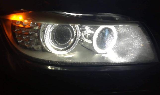 Lampadas led brancas angel eye bmw