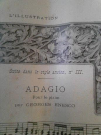 Livro de partitura de música muito antiga