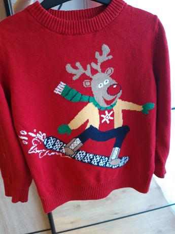 Świąteczny chłopak sweterki i bluzki 98 cm