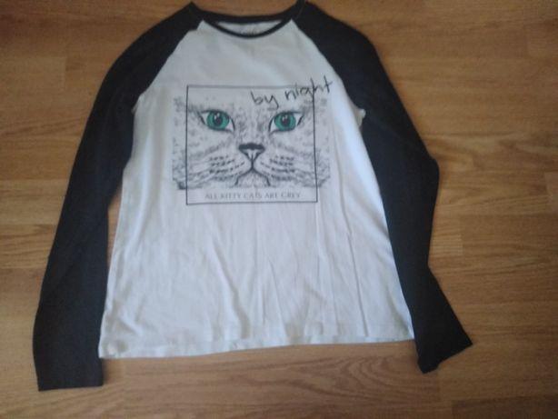 Bluza czarno biała