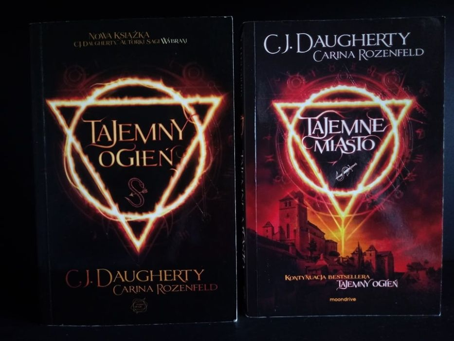 """Tajemny ogień"" i ""Tajemne miasto"" C.J. Daughtery i Carina Rosenfield"