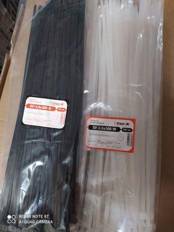 Стяжки, хомути пластикові 3,6*300