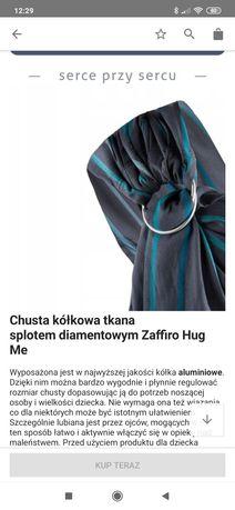 Chusta kółkowa tkana splotem diamentowym Zaffiro Hug Me jak nowa