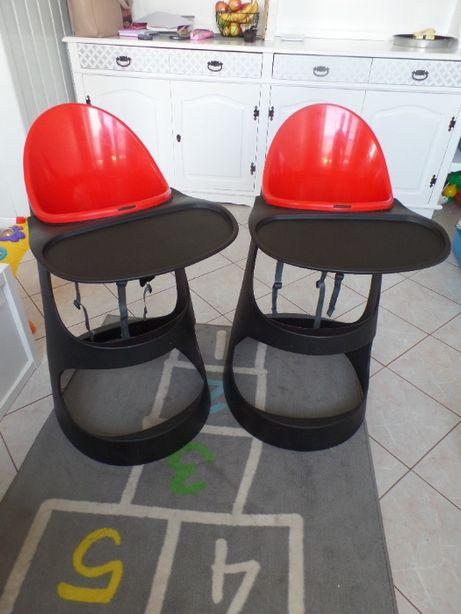 Krzesełko do karmienia IKEA Leopard 2 sztuki dla bliźniaków