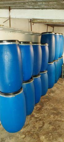 Barricas de plástico 30, 100, 130, 170 e 220 litros c/ tampa e fecho