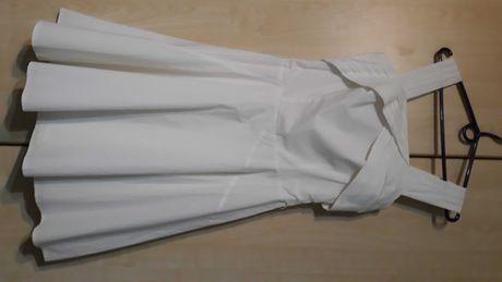 Solar biała elegancka modna sukienka falbanki r 34/36 Okazja!