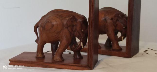 Podpórki do książek Słoń