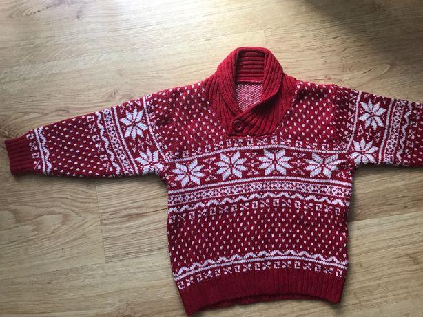 sweterek świąteczny w roz.98