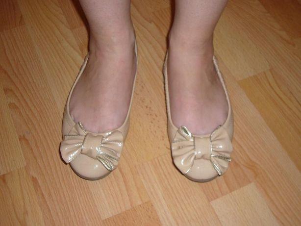 Фирменные кожаные туфли / балетки, 35 разм.