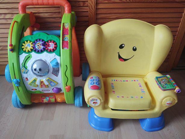 Chodzik 3w1, krzesełko fotel Fisher PRICE +gratis huśtawka!