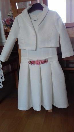 Sukienka dziewczęca z bolerkiem 146