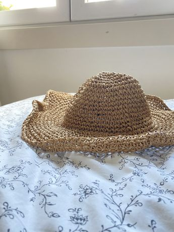Chapéu palha castanho / bege