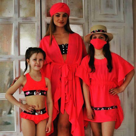 Продам туники пляжные для девочек и для всей семьи