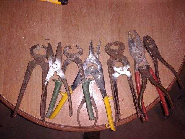 kombinerki,nożyce do blachy i obcęgi