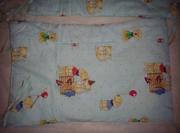 Защита бортики на кроватку пододеяльник
