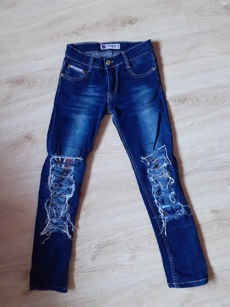 Dsquared2 spodnie na dziewczynkę 134cm
