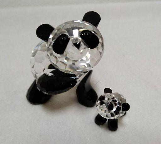 Swarovski- Panda mãe e panda bebê (2)- cristal