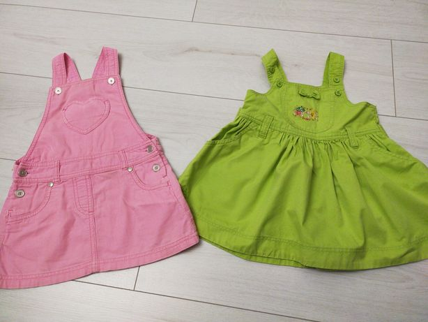 Пакет летних вещей для девочки на годик (платья) 80-86р